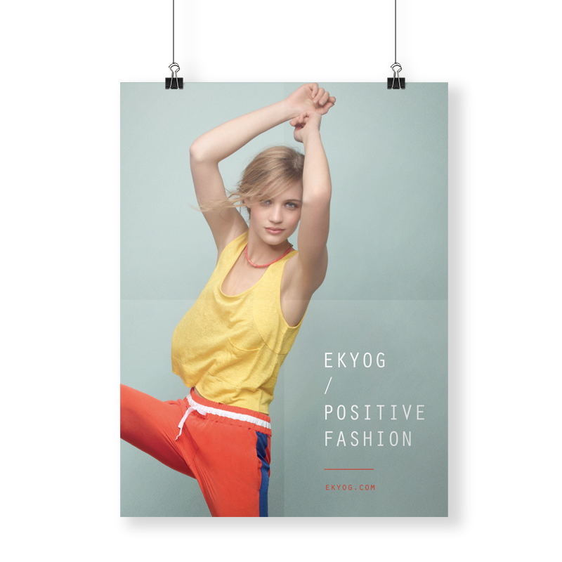 affiche Ekyog positive fashion by DGGD