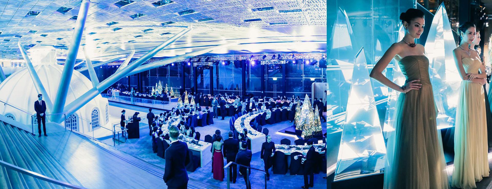 show mapping vidéo au défilé Cartier