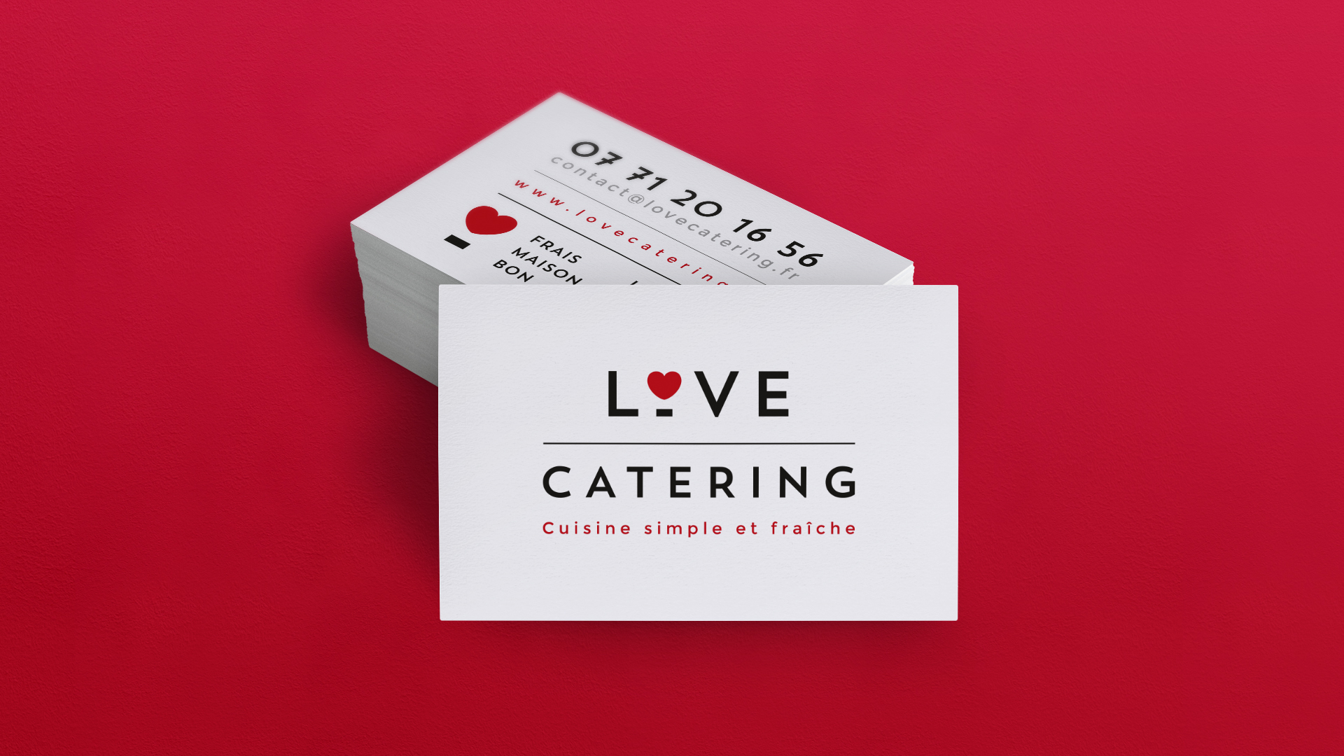 logo et cartes de visite Love Catering by DGGD