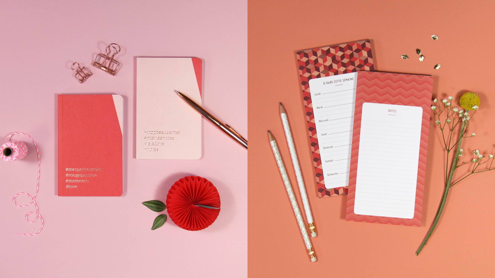 photo de produits, carnets et blocs papiers by DGGD