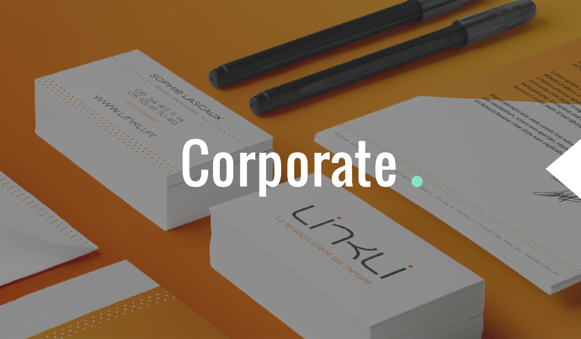 Identité visuelle et papeterie de marque by DGGD