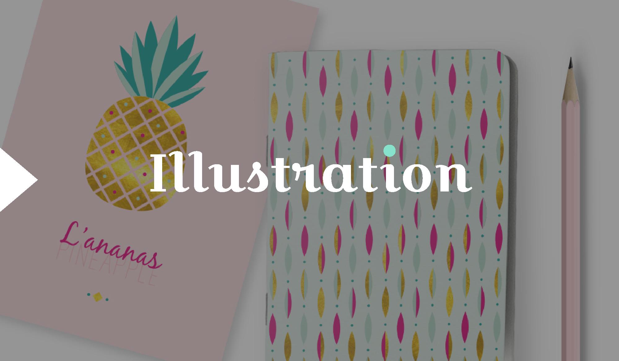 illustration ananas et motif by DGGD
